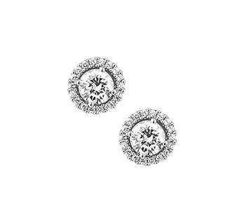 Zilveren oorknop 1314982 rozet