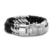 815 F Ben Mix Zilver/leer Armband