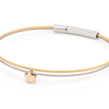 Clic Thinking-of-you-armband bloem goud