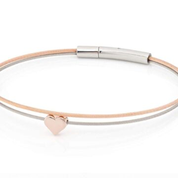 Clic Thinking-of-you-armband hartje rosé