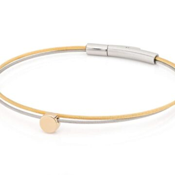 Clic Thinking-of-you-armband rondje goud