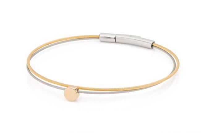 Clic Thinking-of-you-armband rondje goud