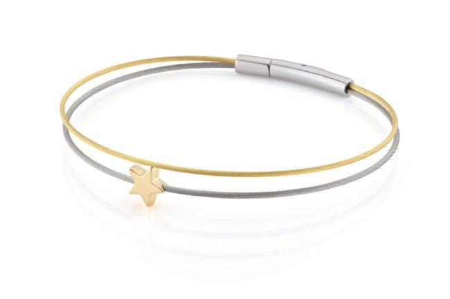 Clic Thinking-of-you-armband sterretje goud