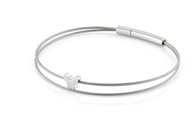Clic Thinking-of-you-armband vlinder staal