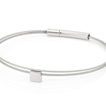 Clic Thinking-of-you-armband blokje staal