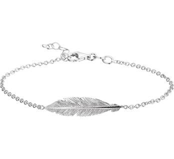 13.19528 zilveren armband veertjes
