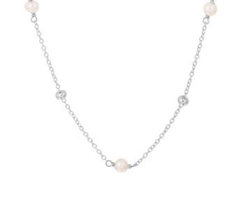 13.32316 zilveren collier pareltjes