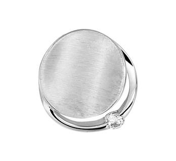 13.32654 zilveren hanger zirkonia
