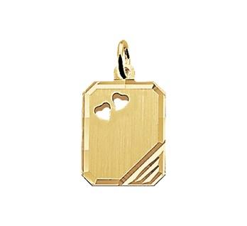 40.18350 Gouden hanger graveerplaat
