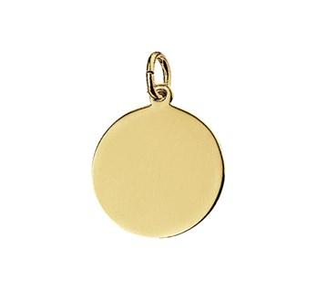 40.18354 Gouden hanger graveerplaat