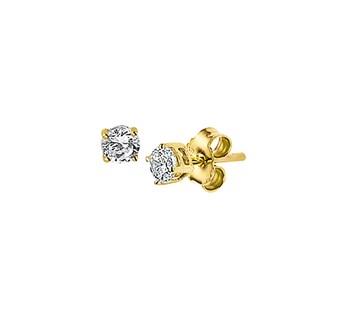 40.18253 Gouden oorknoppen zirkonia