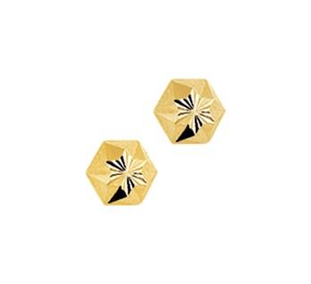 40.18259 Gouden oorknoppen gediamanteerd