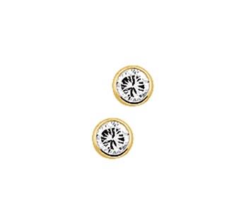 40.18262 Gouden oorknoppen zirkonia