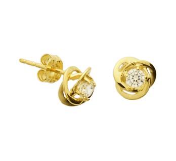 40.18278 Gouden oorknoppen zirconia