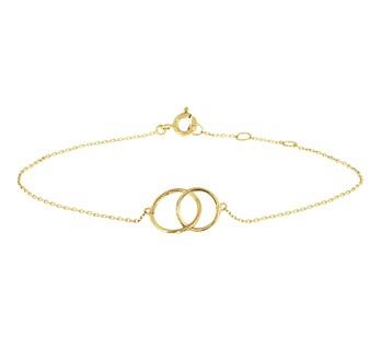40.18462 Gouden armband cirkels