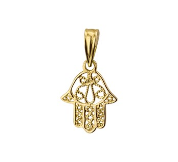 40.18514 Gouden hanger hand
