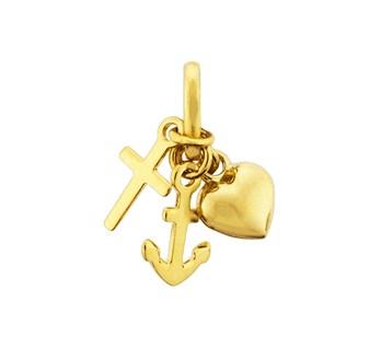 40.18521 Gouden hanger hoop/geloof/liefde